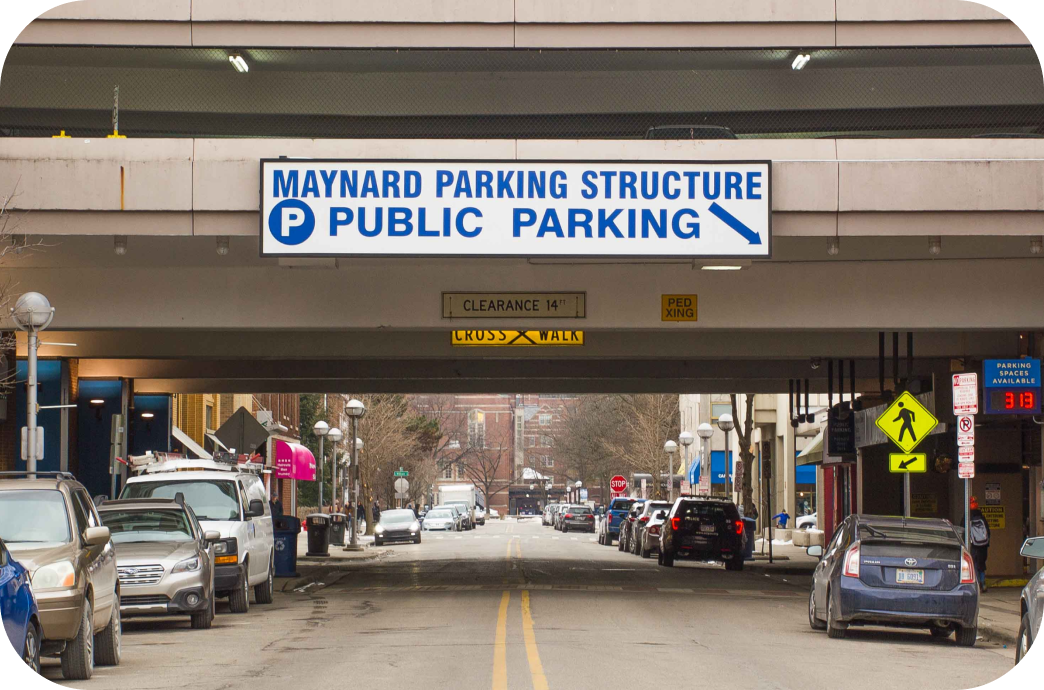 Maynard Parking Structure entrance